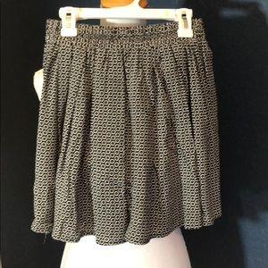 Brandy Melville floral black and white mini  skirt